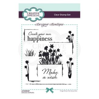 Creative Expressions Designer Boutique Collection Delicate Daffodils A6 Clear Stamp Set