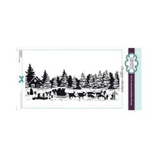 Designer Boutique Santa Claus Village DL Pre Cut Rubber Stamp