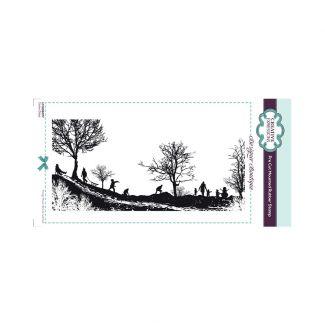 Designer Boutique Snow Days DL Pre Cut Rubber Stamp