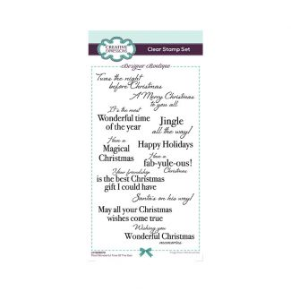 Designer Boutique Most Wonderful Time Of The Year DL Clear Stamp Set