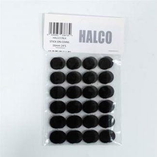 16 pairs of Velcro circles - Black