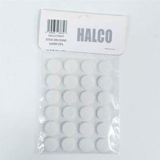 16 pairs of Velcro circles - White