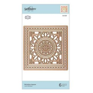 Spellbinders Flourished Fretwork Richelieu Square Etched Die