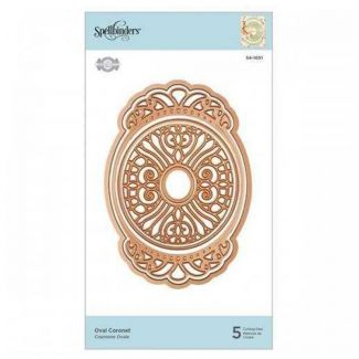 Spellbinders Flourished Fretwork Oval Coronet Etched Die