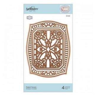 Spellbinders Flourished Fretwork Fluted Tracery Etched Die