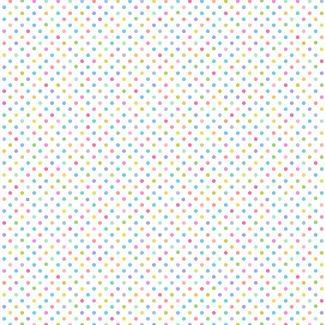Lewis & Irene - Rainbows - Pastel rainbow dots - Fat Quarter
