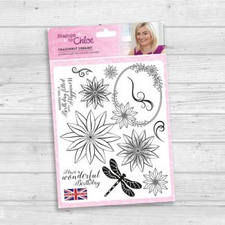 Stamps by Chloe - A5 Stamp Set - Dragonfly Dreams