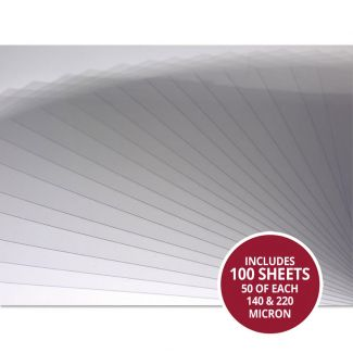 Heavyweight Acetate - 220 micron x 100 Sheets