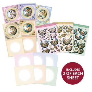 Delightful Birds Decoupage Card Kit