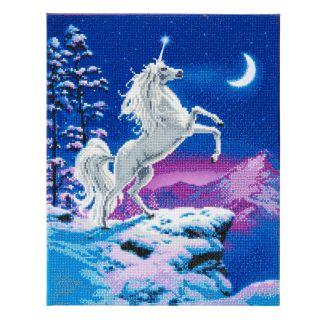 Framed LED Crystal Art Kit 40cm x 50cm - Moonlight Unicorn