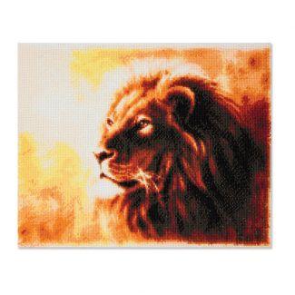 Framed Crystal Art Kit 40cm x 50cm - Proud Lion