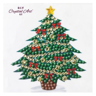 Crystal Art Motif Kit - Oh Christmas Tree 9cm x 9cm