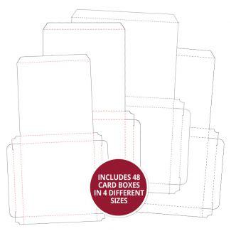 Silk Art Handmade Card Boxes x48 Multibuy