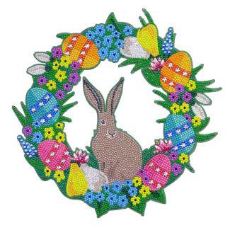 Crystal Art Wreath - Easter (30cm)