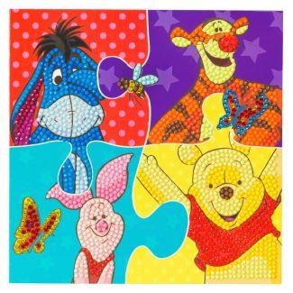 Crystal Art Card Kit - Winnie The Pooh Puzzle