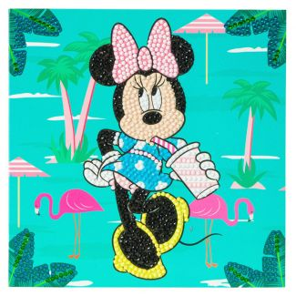 Crystal Art Card Kit - Minnie on Holiday