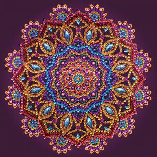 Crystal Art Card Kit - Purple Mandala