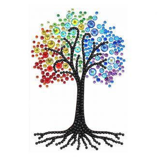 Crystal Art Card - Rainbow Tree (10cm x15cm)