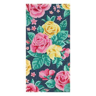 Crystal Art Card - Pretty Flowers (11cm x 22cm)