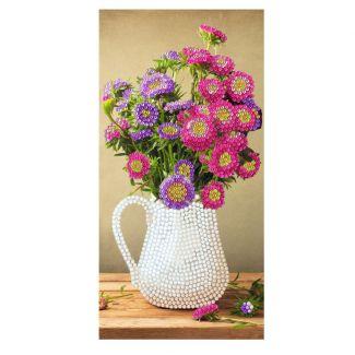 Crystal Art Card - Flower Vase (11cm x22cm)