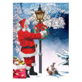Giant Crystal Art Card Kit - Santa's Walk