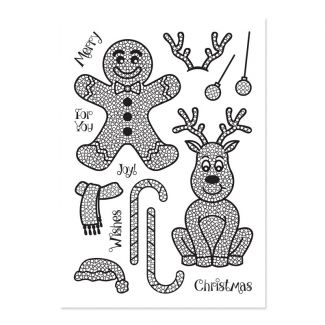 Crystal Art A5 Stamp - Jolly Reindeer