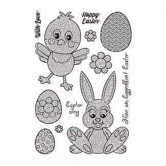 Crystal Art A5 Stamp - Easter Party