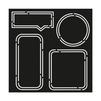"Creative Expressions Neon Essential Frames 8"" x 8"" Stencil"