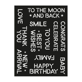 """Creative Expressions Neon Celebrations 6"""" x 8"""" Stencil"""
