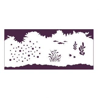 Creative Expressions Water Elements DL Stencil