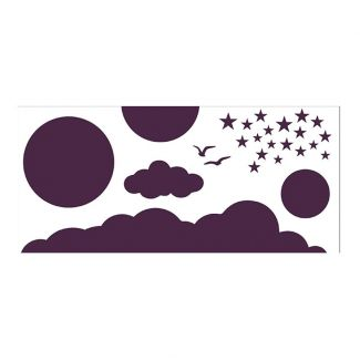 Creative Expressions Sky Elements DL Stencil