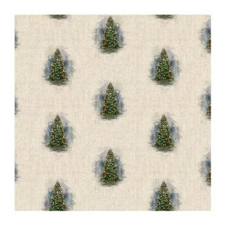 Chatham Glyn Linen Look Fabric - Christmas Tree All-Over (½ metre)