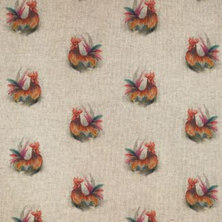 Chatham Glyn Linen Look Fabric - Rooster (1/2 metre)