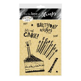 For the Love of Stamps A6 Stamp Set - Let's Eat Cake