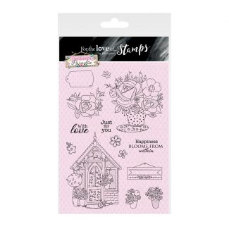 For the Love of Stamps A5 Stamp Set - Happiness Blooms