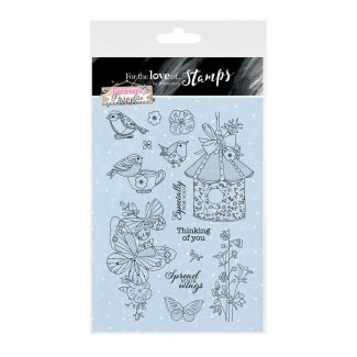 For the Love of Stamps A5 Stamp Set - Spread Your Wings