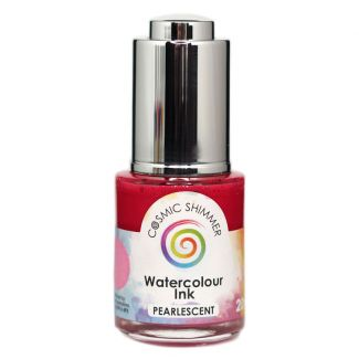 Cosmic Shimmer Pearlescent Watercolour Ink - Passionately Pink 20ml
