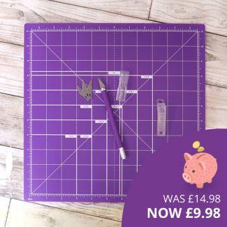 "Premier Craft Tools - 12"" x 12"" Mat & Knife Bundle"