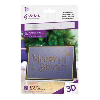 5 x 7 3D Embossing Folder - Merry & Bright 2020
