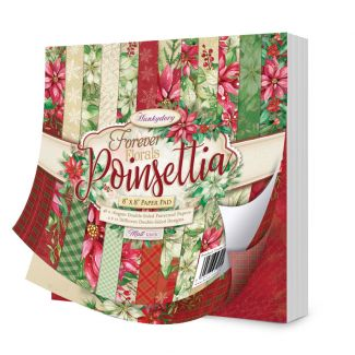 "Forever Florals - Poinsettia 8"" x 8"" Paper Pad"