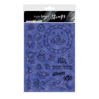 For the Love of Stamps - Create-A-Shaker  - Outer Space & Deep Blue Sea