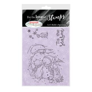 For the Love of Stamps A7 Stamp Set - Let's Build A Snowman