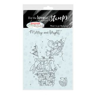 For the Love of Stamps A7 Stamp Set - Want to go Sledging
