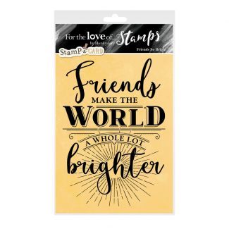 For the Love of Stamps - Friends So Bright A6 Stamp Set