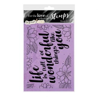 For the Love of Stamps - Wonderful Life A6 Stamp Set