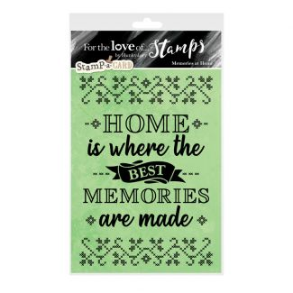 For the Love of Stamps - Memories at Home A6 Stamp Set