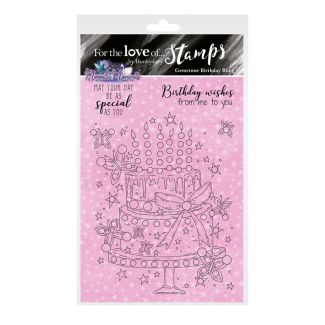 For the Love of Stamps - Gemstone Birthday Bling