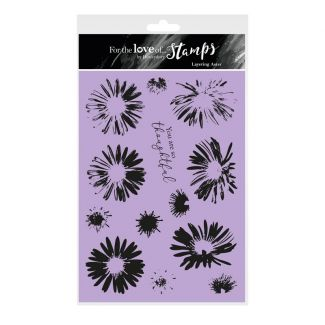 For the Love of Stamps - Layering Aster A5 Stamp Set