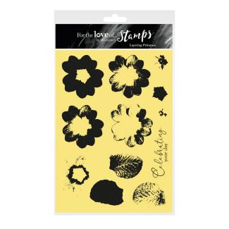 For the Love of Stamps - Layering Primrose A5 Stamp Set