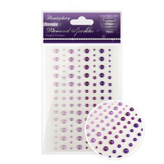 Diamond Sparkles Gemstones - Precious Pearls - Purple Passion
